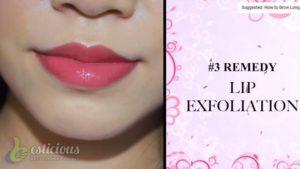 Lip Exfoliation using toothpaste